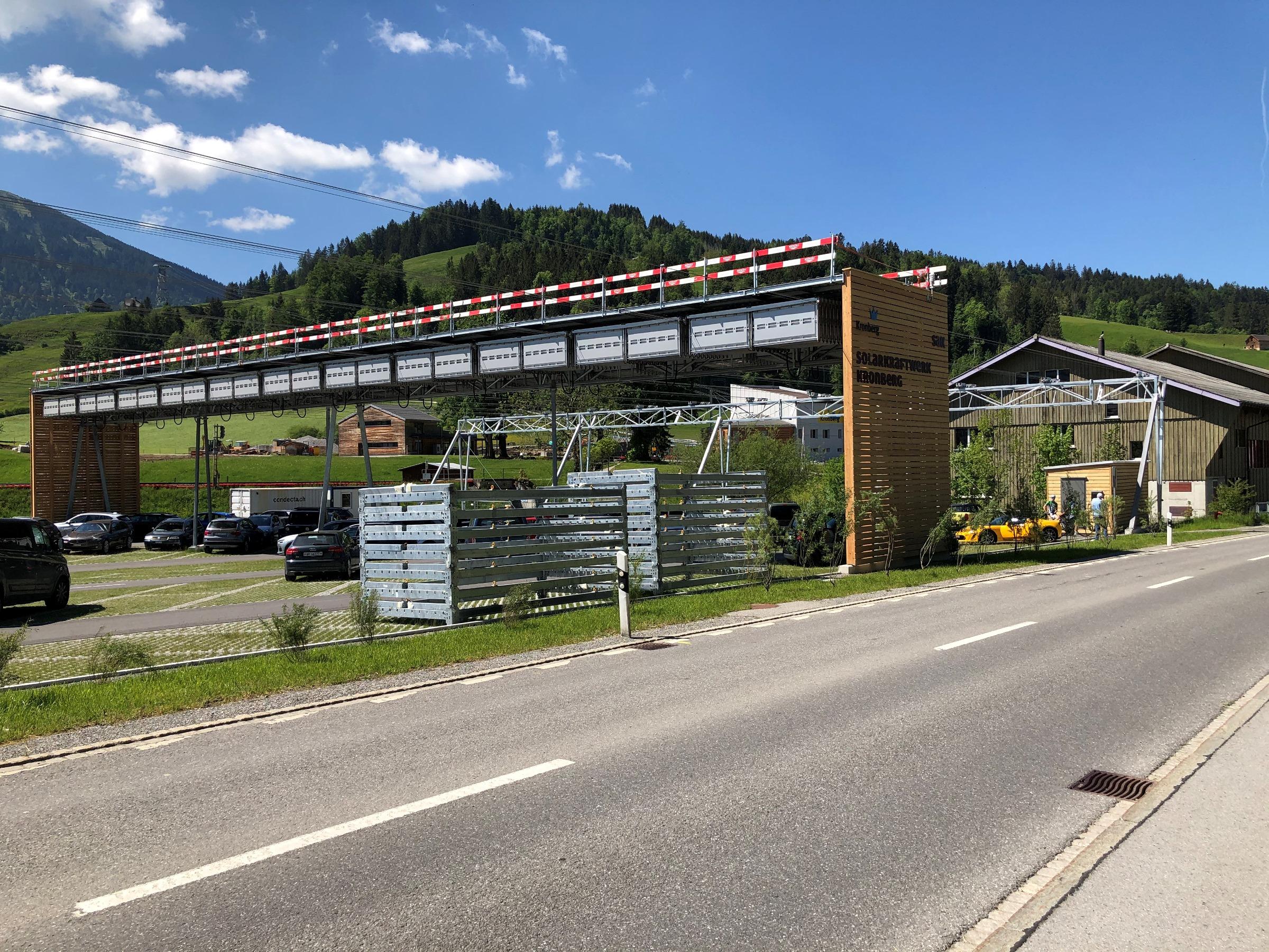 Solarfaltdachanlage Parkplatz Kronberg